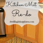 DIY Kitchen Mat Re-do