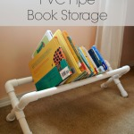 DIY PVC Pipe Book Storage