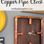 Industrial Copper Pipe Clock