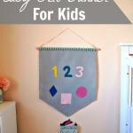 DIY Easy Felt Banner for Kids