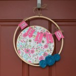 Embroidery Hoop Wreath