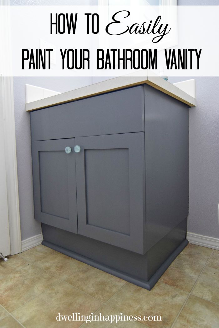 how to paint a bathroom vanity cabinet how to paint your bathroom vanity the easy way 26162
