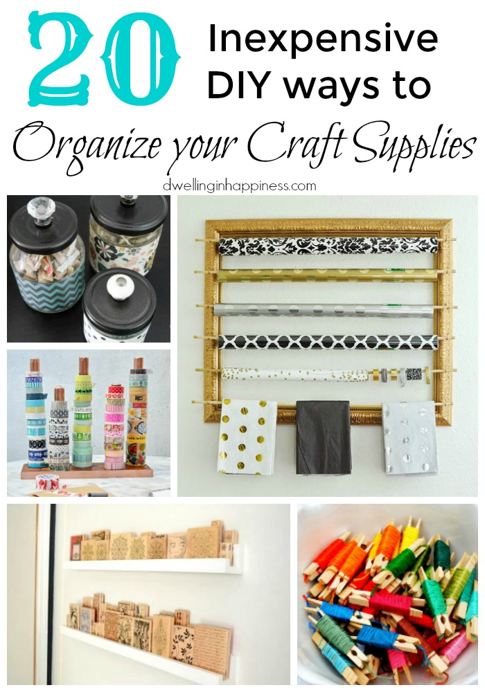 20 inexpensive diy ways to organize your craft supplies for Where to buy cheap craft supplies