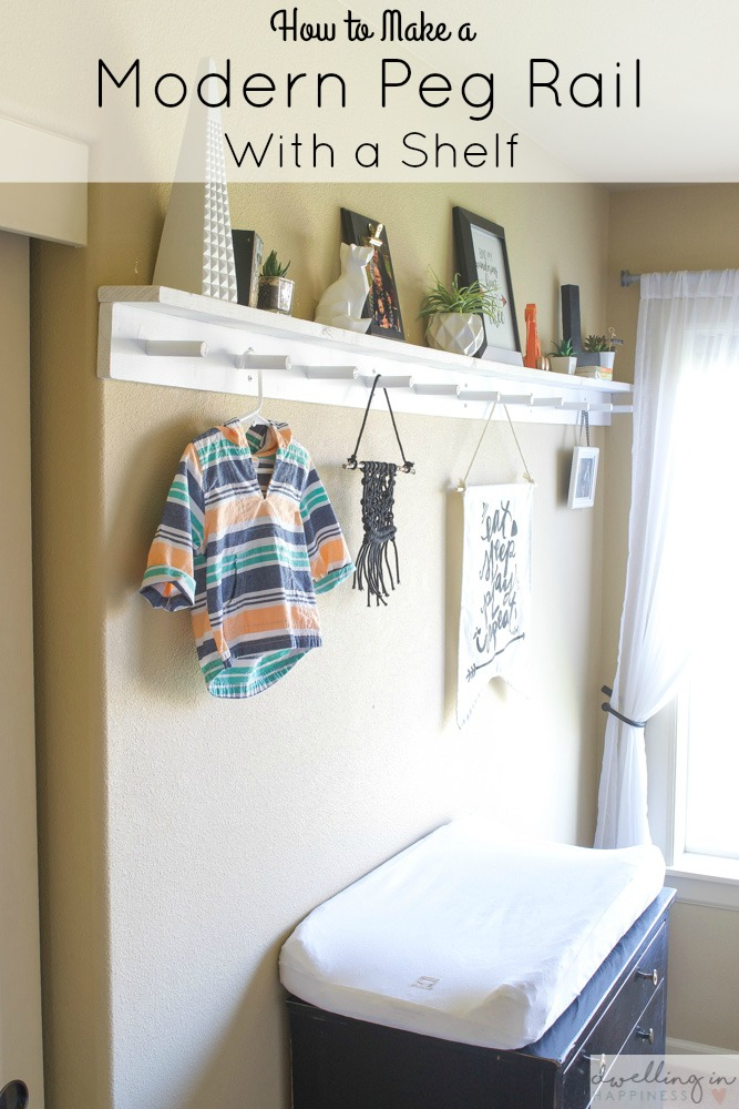 How To Make A Modern Peg Rail With Shelf Dwelling In Hiness