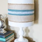 Quick and Easy Farmhouse Style Burlap Lampshade – Monthly DIY Challenge