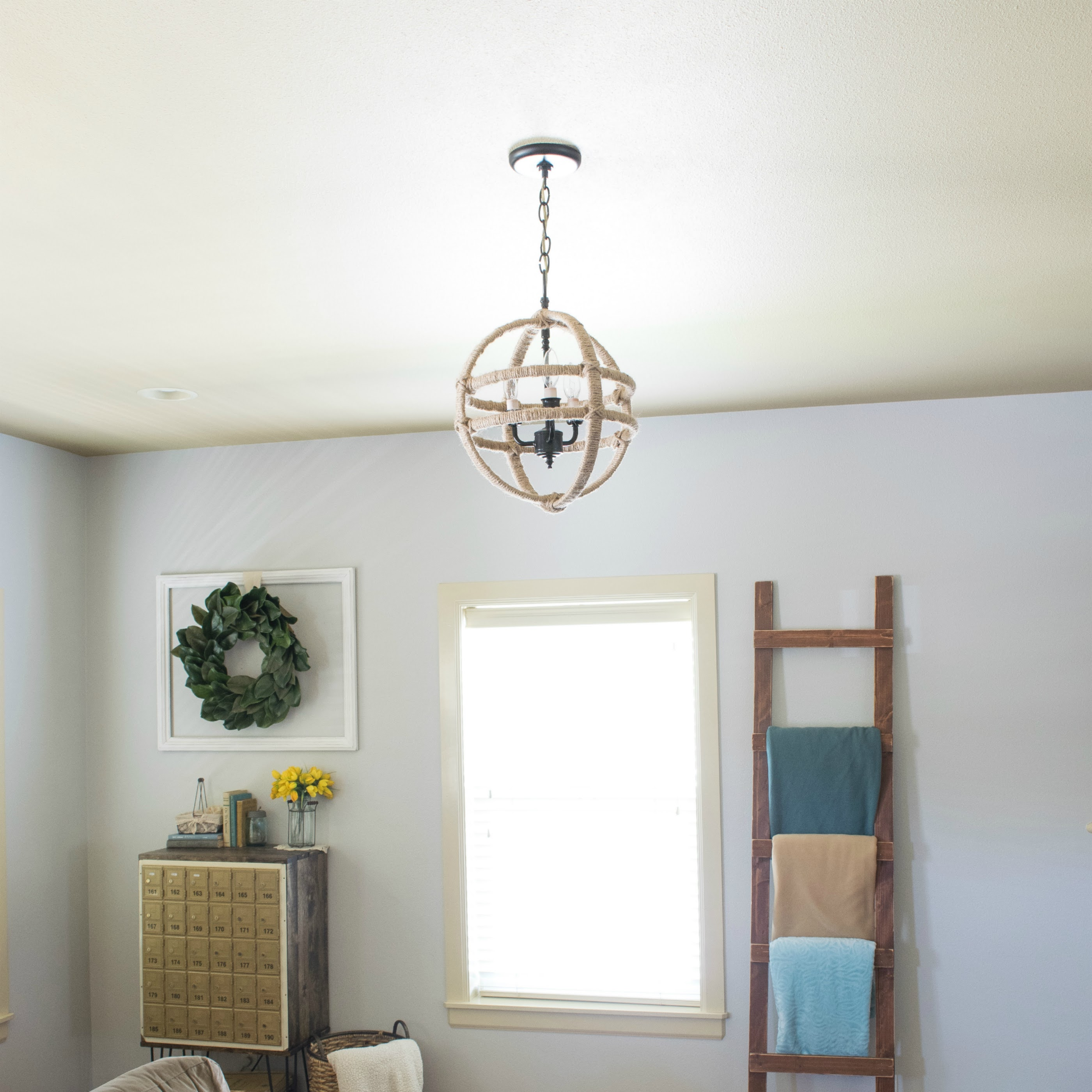 Cheap and Easy DIY Twine Orb Chandelier Dwelling In Happiness